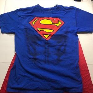Superman Shirt with Attachable Cape